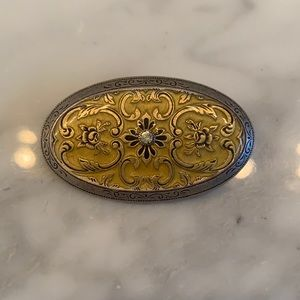 CATHERINE POPESCO YELLOW & SILVER BROOCH